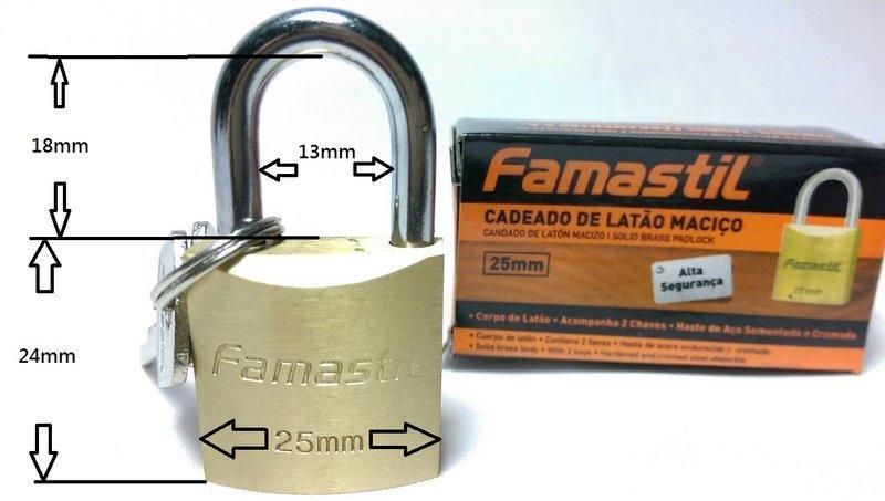 【八八八】e網購~【25mm 銅鎖】銅掛鎖 一字鎖 門鎖 行李箱鎖 鎖頭