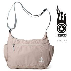 Pentagramボディバッグ ワンショルダーバッグ 斜めがけバッグ メンズ 男女兼用 防水 大容量 収納 アウトドア バイク 通学pm-f111 (アプリコット)