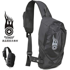 Pentagram ボディバッグ アウトドア 旅行用 バッグ 防水 軽量 通気 ハイキングバッグ 自転車バッグ 斜め掛け ユニセックスpm-h360