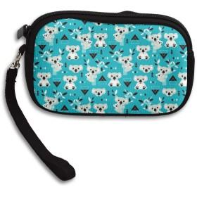 財布 コアラウィンターブルー幾何学的なオーストラリアの動物 小さい財布 コインケース財布 収納 レディース 可愛 いキーケースしわ防止 高校生 パターン 小銭入れ 人気 大容量 軽量 多機能