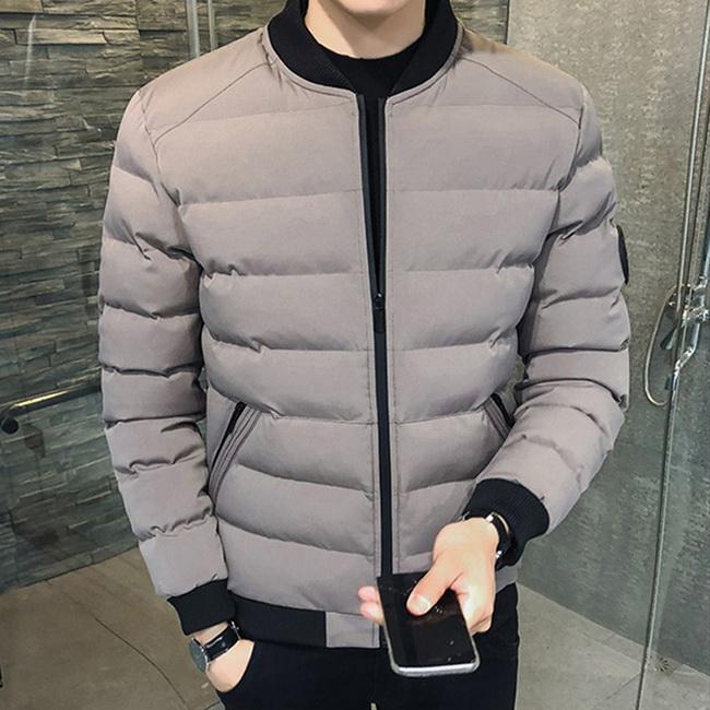 FOFU-鋪面外套韓版潮流素面保暖長袖鋪面外套【08B-F0667】