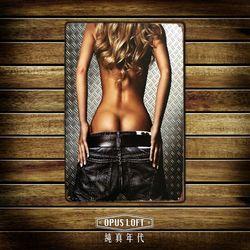 OPUS LOFT純真年代 20X30仿舊金髮裸背鐵皮畫/創意無痕壁貼 (TP1174)
