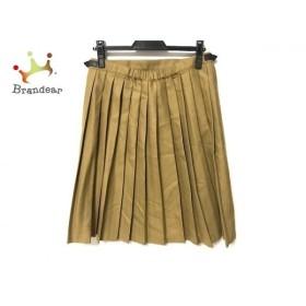 オニール O'NEIL 巻きスカート サイズ12 L レディース 美品 イエロー プリーツ 新着 20191102