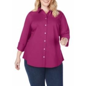フォックスクロフト FOXCROFT レディース チュニック トップス marianne stretch tunic shirt Persian Plum