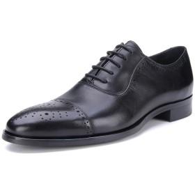 [ONE MAX] ビジネスシューズ メンズ 牛革 内羽根 ストレートチップ フォーマル 革靴 ウォーキング カジュアル レースアップ シューズ 高級靴