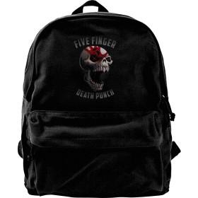 Five Finger Death Punch キャンバスリュック リュックサック バックパック ビジネスバッグ 可愛い レディースリュック 通勤 旅行 遠足 バック ショルダーバッグ 修学旅行 軽量 スポーツ レディース ギフト