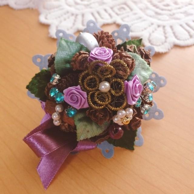 青と紫のシュトラウス ドイツ 小さな花束 スパイスブーケ