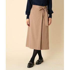 【SALE(三越)】<Couture Brooch/クチュールブローチ> ラップ風リボンベルトスカート(2001557115) チャ【三越・伊勢丹/公式】