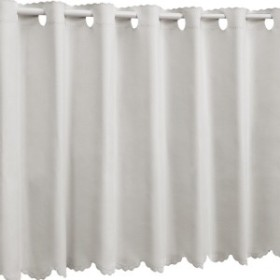 1級遮光 防炎 カフェカーテン 幅95×丈35cm グレー 無地