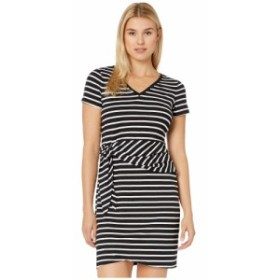トミー バハマ Tommy Bahama レディース ワンピース ワンピース・ドレス sonoran stripe twist short sleeve dress Black