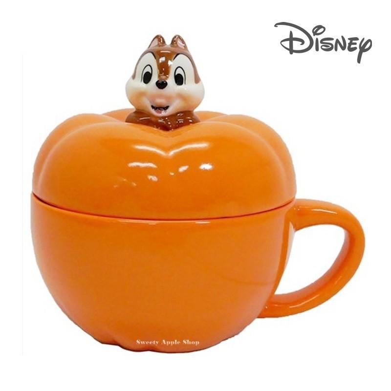 迪士尼【 SAS 日本限定 】 奇奇蒂蒂 (奇奇) 南瓜造型 附蓋 馬克杯