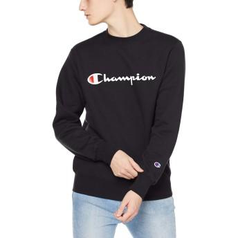 [チャンピオン] スクリプトロゴ クルーネックスウェットシャツ ベーシック C3-Q007 メンズ ブラック 日本 L (日本サイズL相当)