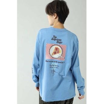 【46%OFF】 ローズバッド スーベニアロングTシャツ レディース ブルー 【ROSE BUD】 【タイムセール開催中】