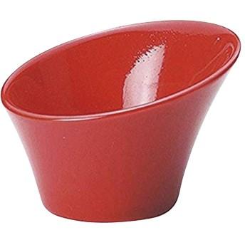 日本製 7.5cmスラントトールボール(2個組)スパイアーレッド 15040089 陶器アミューズ皿