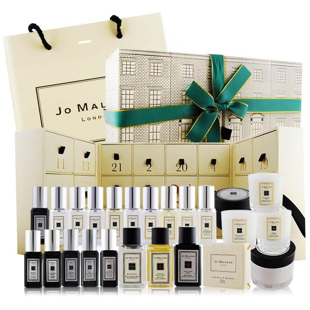 Jo Malone 聖誕限量倒數日曆 香水X15+沐浴品X4+乳霜X2+蠟燭X3 附提袋