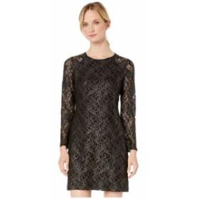 トミー ヒルフィガー Tommy Hilfiger レディース ワンピース ワンピース・ドレス long sleeve lace dress Black/Gold
