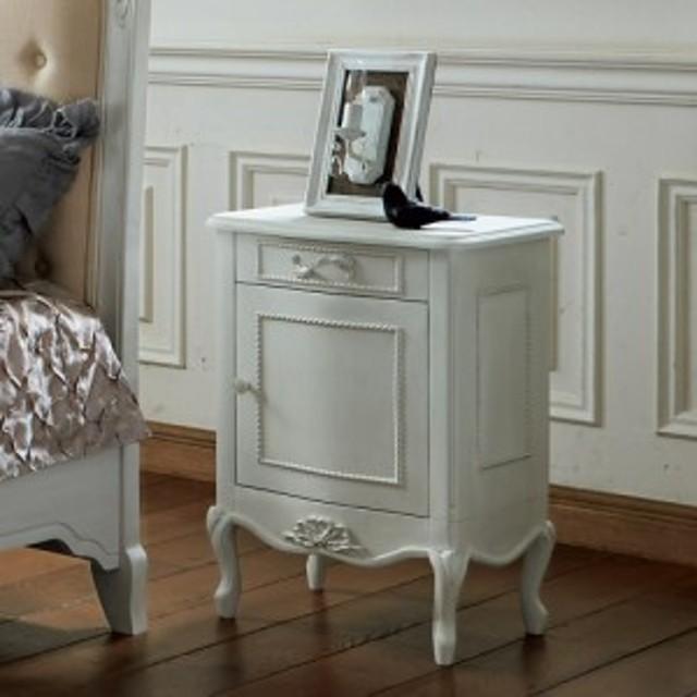 シャビーシック ホワイト フレンチ収納家具シリーズ サイドチェスト 726608