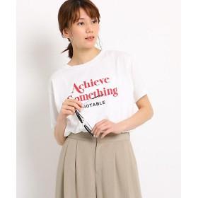 <THE SHOP TK(LADIES)/ザショップティーケー> プリントロゴTシャツ(2001560293) アカ【三越・伊勢丹/公式】