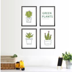 【半島良品】DIY無痕創意牆貼/壁貼-植物盆栽框 SK7089中