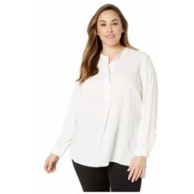 ヴィンス カムート Vince Camuto Specialty Size レディース チュニック ヘンリーシャツ 大きいサイズ plus size long sleeve lurex pins