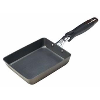 卵焼き フライパン IH対応 玉子焼き器 内面2層 テフロン ベーシック ハード加工 カルナーゼ(H-8767)(ブラック,