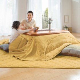 【正方形】190×190cm ふっくら贅沢ボリューム 省スペースこたつ敷き(厚さ約1.5cm) 723408