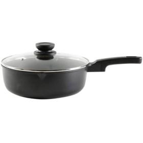 HENGTONGWANDA スキレット、サートパン、ミルクウォーマーポット、ノンスティックパン、高品質、低ヒューム - 10インチ食器洗い機安全オーブンセーフ、ブラック