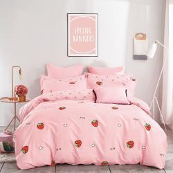 情定巴黎-簡約空間 100%40支精梳純棉雙人全鋪棉兩用被床包組1+1超值組-獨立筒/一般適用