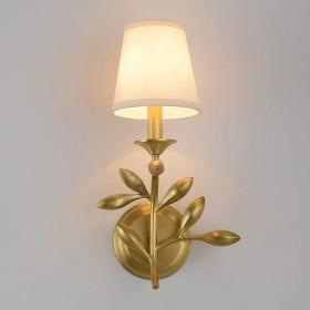 ウォールランプ,アメリカのベッドサイドランプ完全な銅の壁ランプリビングルーム研究寝室の廊下3 C証明用光源:E14-1head