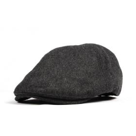 WITHMOONSキャスケットハンチング帽ウール ニューズボイハット フラットキャップSL3021(Charcoal)
