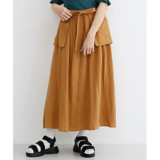 メルロー merlot 羊飼いのお仕事スカート (キャメル)