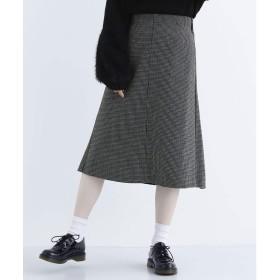 メルロー merlot 千鳥格子柄ラップスカート (グリーン)