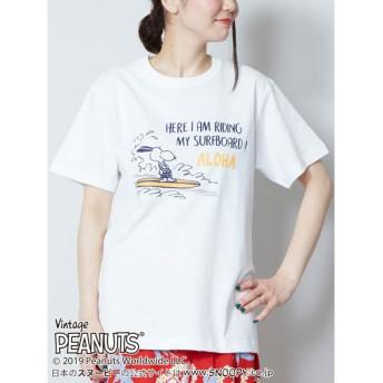 【Kahiko】スヌーピーライディングTシャツM ホワイト