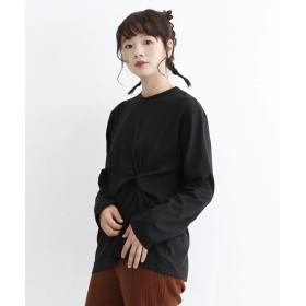 メルロー merlot コットンねじりTシャツ (ブラック)