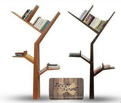DS北歐家飾§小樹枝設計壁飾壁掛書架 書檔 CD架 置物架 造型層板架鄉村風格創意 兒童裝潢