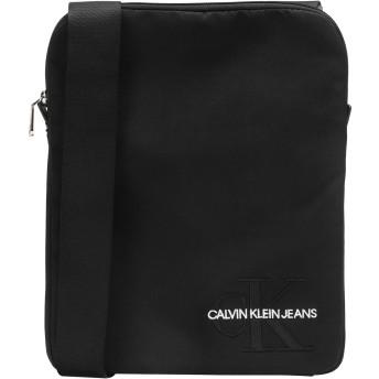 《セール開催中》CALVIN KLEIN JEANS メンズ 肩掛けバッグ ブラック ナイロン 90% / ポリウレタン 10% CKJ MONOGRAM NYLON