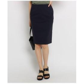 【ハンドウォッシュ/UV】リネン混ストレッチスカート
