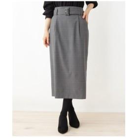共地ベルト付きタイトスカート