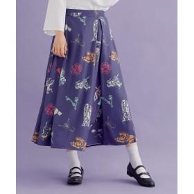 メルロー merlot 【merlot plus】星座柄タックフレアスカート (ブルー)