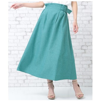 【AULI】 ベルト付アシンメトリースカート