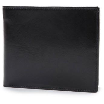 オティアス Otias ベジタブルタンニンなめしバッファローレザー 二つ折り財布/二つ折れコンパクトウォレット (ブラック)