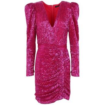 《セール開催中》LAVISH ALICE レディース ミニワンピース&ドレス フューシャ 12 ポリエステル 100% STRUCTURED SHOULDER PLEATED SEQUIN MINI DRESS