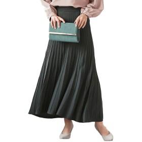 [神戸レタス] ウエストゴム プリーツ ニット ロングスカート [M2600] レディース ワンサイズ スミクロ