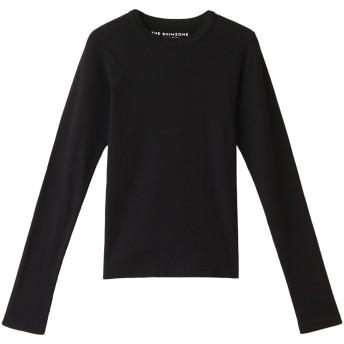 Shinzone シンゾーン リブロングTシャツ ブラック