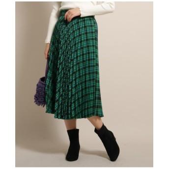 【SSサイズあり】チェックミモレプリーツスカート