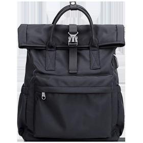 リュックサック バックバック バッグに 学生バッグ女性 ショルダーバッグ大容量 韓国 ファッションカジュアルキャンパスカレッジ風高校 バックパック デイパック PCバック リュック スポーツバッグ OPPUKI (Color : Black)