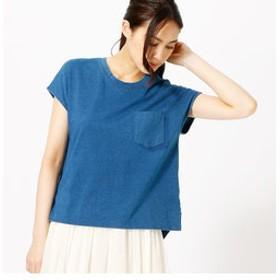 【COMME CA ISM:トップス】〔ONIGIRI〕 デニムTシャツ