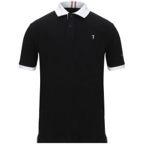 《セール開催中》TRU TRUSSARDI メンズ ポロシャツ ブラック S コットン 97% / ポリウレタン 3%