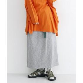 メルロー merlot 【MERLOT IKYU】ベルト付きナロースカート (グレー)