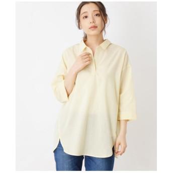 【洗濯機OK】【接触冷感】バックシャンBIGスキッパーシャツ